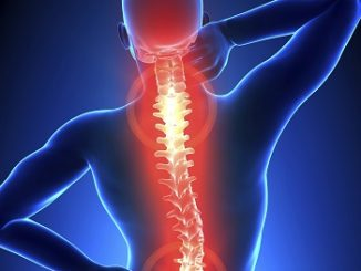 A picture showing back and shoulder pain
